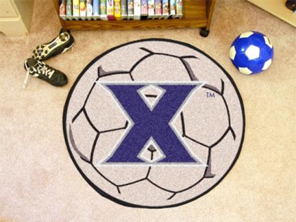 "27"" Round Xavier Musketeers Soccer Mat"