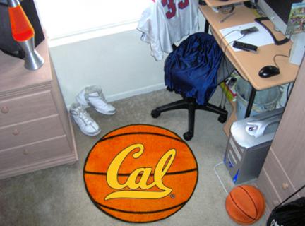 """27"""" Round California (Berkeley) Golden Bears Basketball Mat"""