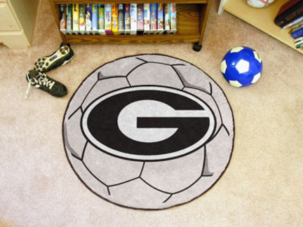 "Image of ""Georgia Bulldogs """"G"""" 27"""" Round Soccer Mat"""