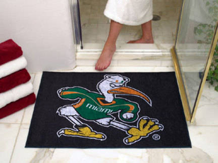 34in x 45in Miami Hurricanes All Star Floor Mat