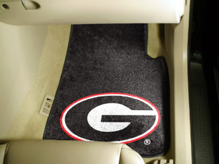 "Georgia Bulldogs 27"" x 18"" Auto Floor Mat (Set of 2 Car Mats)"