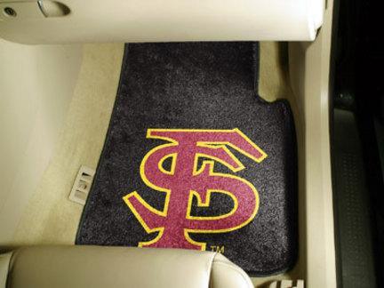"""Florida State Seminoles """"FS"""" 27"""" x 18"""" Auto Floor Mat (Set of 2 Car Mats)"""