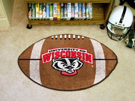 Wisconsin Badgers 22in x 35in Football Mat