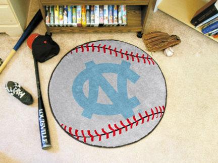 27 inch Round North Carolina Tar Heels Baseball Mat (NC)