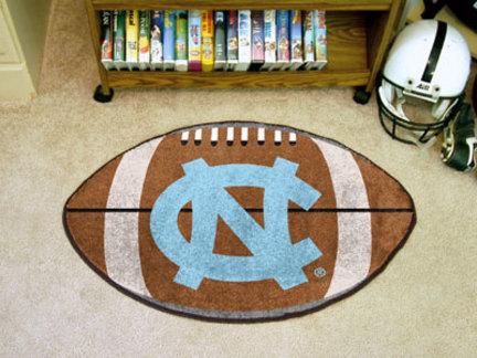 22in x 35in North Carolina Tar Heels Football Mat (with 'NC')