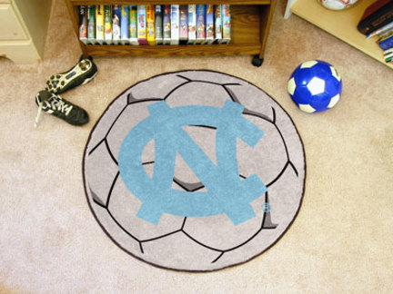 27 inch Round North Carolina Tar Heels Soccer Mat (NC)