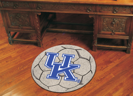 "27"" Round Kentucky Wildcats Soccer Mat (with ""UK"")"