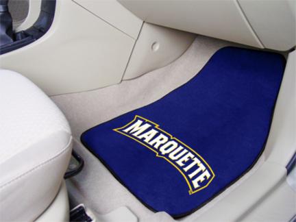 Marquette Golden Eagles 27 x 18 Auto Floor Mat Set of 2 Car Mats