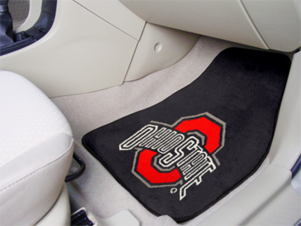 """Ohio State Buckeyes 27"""" x 18"""" Auto Floor Mat (Set of 2 Car Mats)"""
