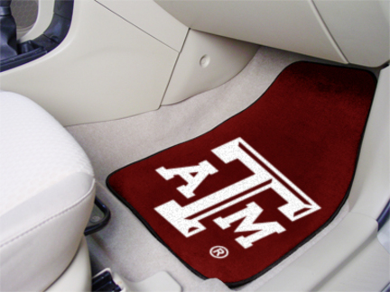 Texas A & M Aggies 27in x 18in Auto Floor Mat (Set of 2 Car Mats)