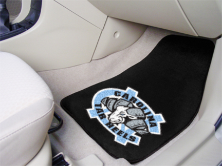 North Carolina Tar Heels 27in x 18in Auto Floor Mat (Set of 2 Car Mats)