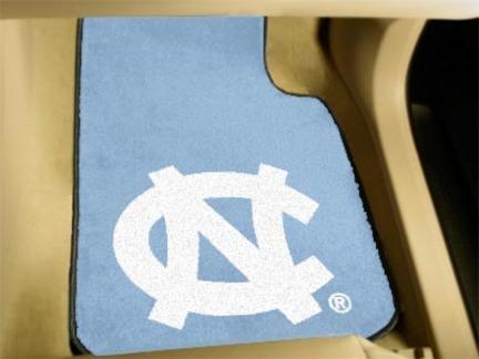 North Carolina Tar Heels 27in x 18in Auto Floor Mat (Set of 2 Car Mats - with NC)
