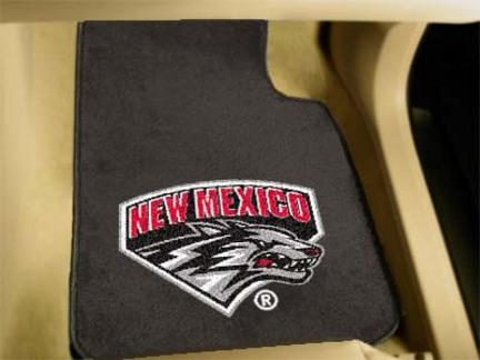 """New Mexico Lobos 27"""" x 18"""" Auto Floor Mat (Set of 2 Car Mats)"""