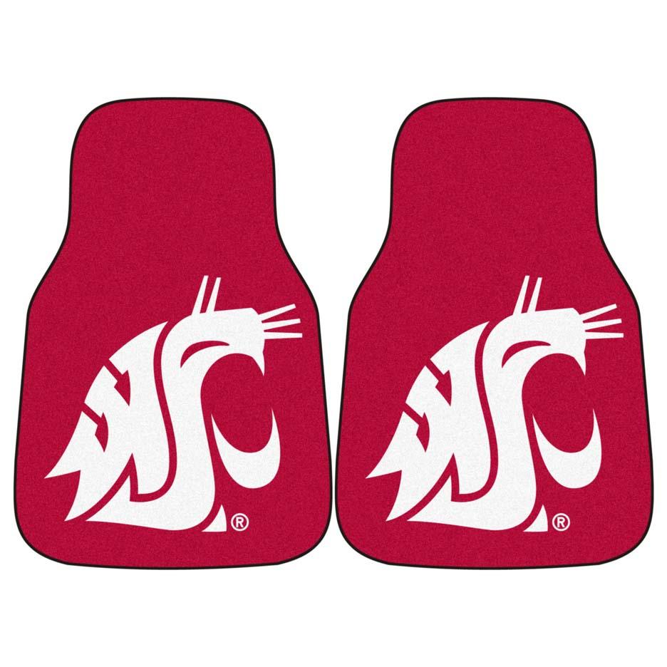 "Washington State Cougars 27"" x 18"" Auto Floor Mat (Set of 2 Car Mats)"