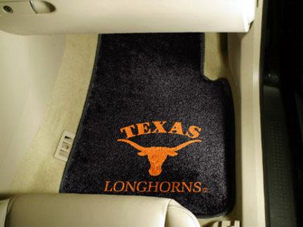 Texas Longhorns 27 x 18 Auto Floor Mat Set of 2 Car Mats