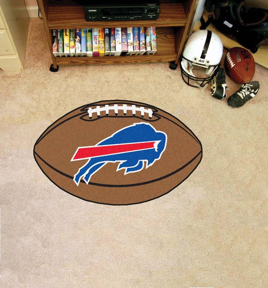 """22"""" x 35"""" Buffalo Bills Football Mat"""