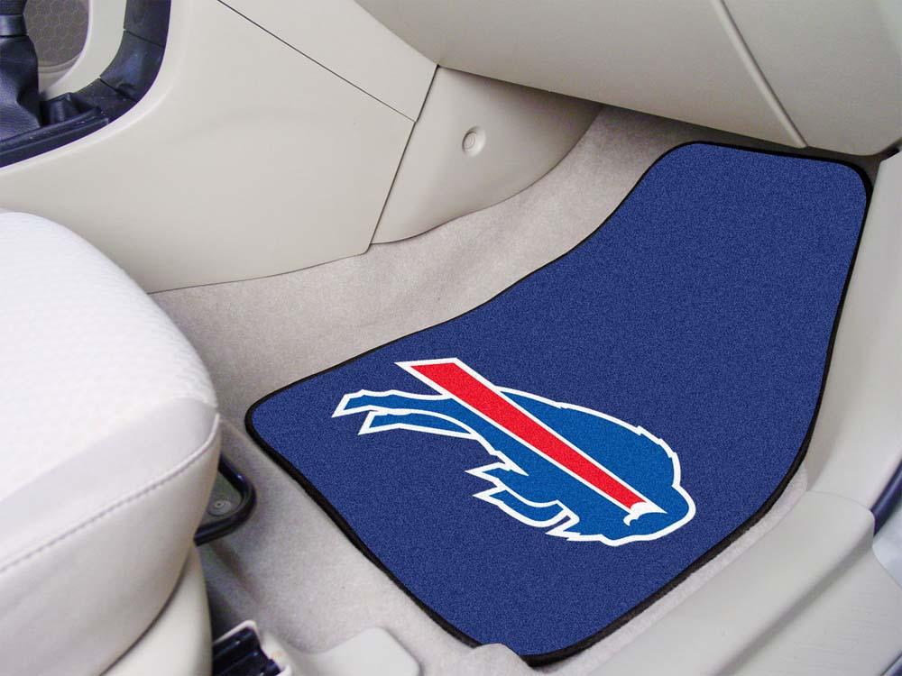 """Buffalo Bills 27"""" x 18"""" Auto Floor Mat (Set of 2 Car Mats)"""