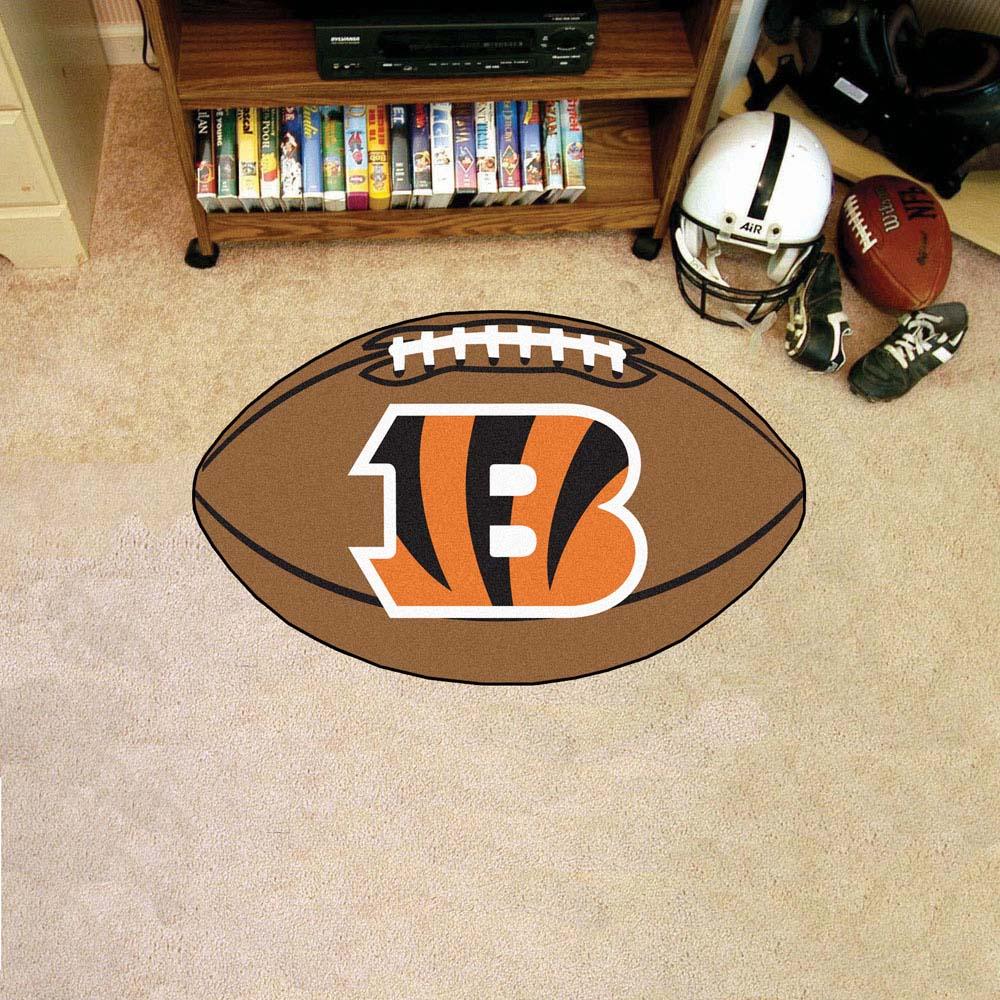 """22"""" x 35"""" Cincinnati Bengals Football Mat"""