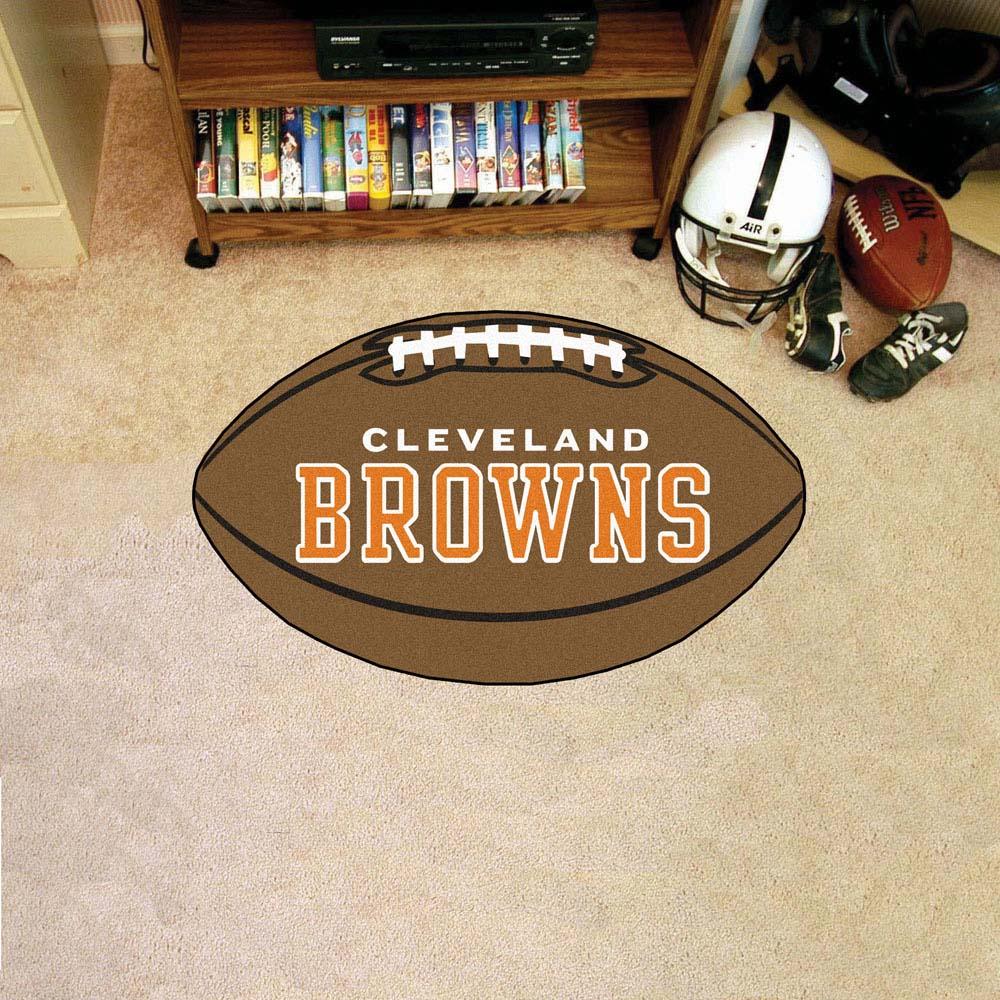 """22"""" x 35"""" Cleveland Browns Football Mat"""