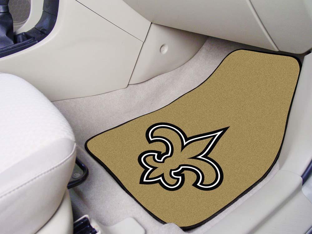 "New Orleans Saints 27"" x 18"" Auto Floor Mat (Set of 2 Car Mats)"