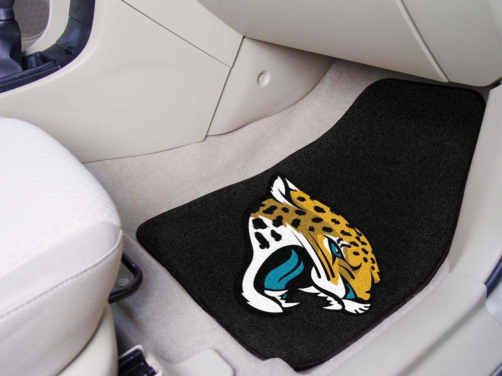 "Jacksonville Jaguars 27"" x 18"" Auto Floor Mat (Set of 2 Car Mats)"
