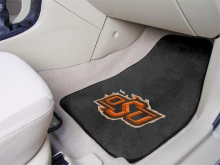 Oklahoma State Cowboys 27in x 18in Auto Floor Mat (Set of 2 Car Mats)