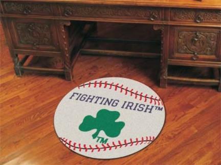 27 inch Round Notre Dame Fighting Irish Baseball Mat