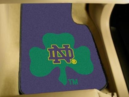 Notre Dame Fighting Irish 27in x 18in Auto Floor Mat (Set of 2 Car Mats)