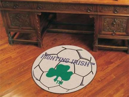 27 inch Round Notre Dame Fighting Irish Soccer Mat