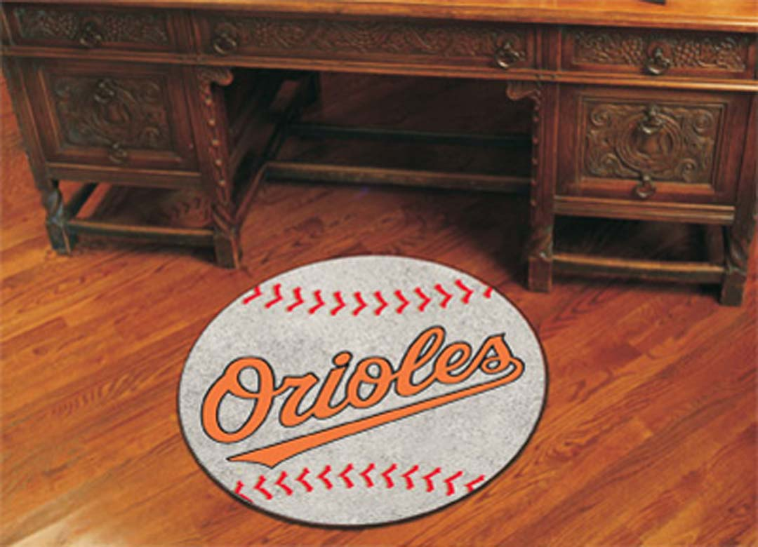 27 inch Round Baltimore Orioles Baseball Mat
