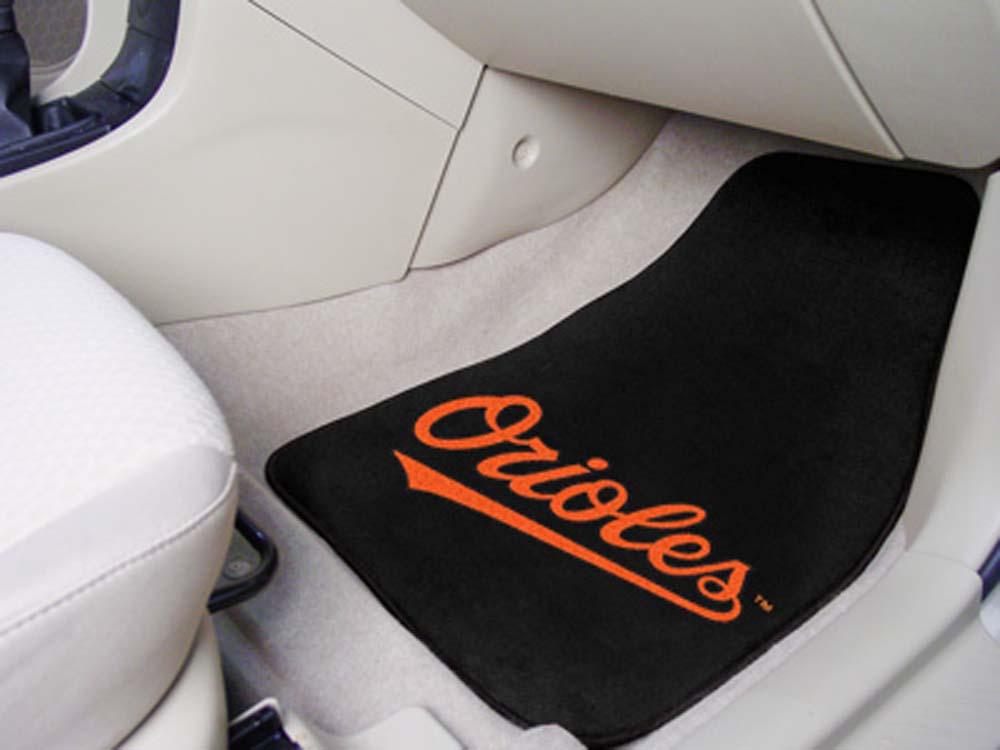 Baltimore Orioles 27in x 18in Auto Floor Mat (Set of 2 Car Mats)