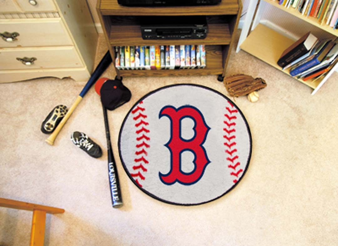27 inch Round Boston Red Sox Baseball Mat