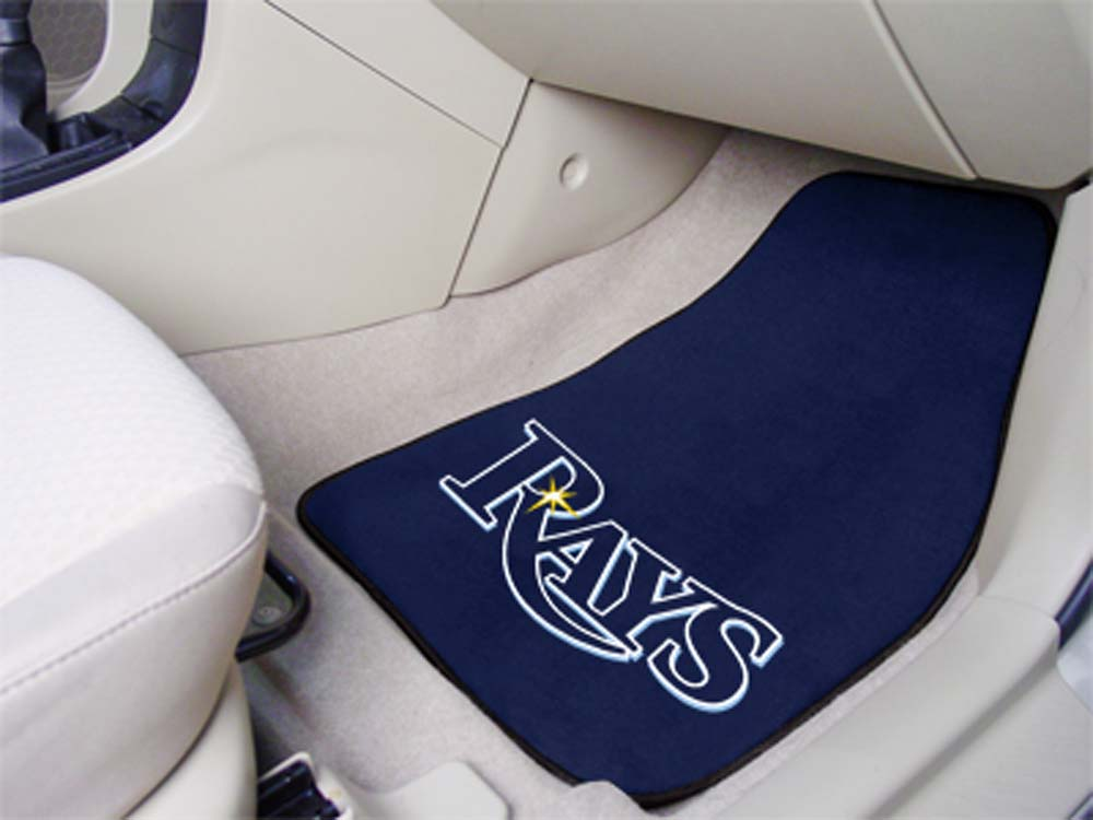 Tampa Bay Rays 27in x 18in Auto Floor Mat (Set of 2 Car Mats)