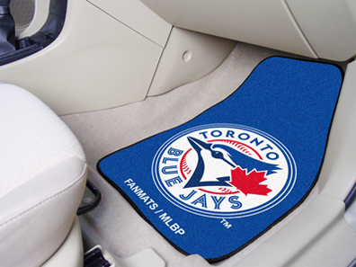 Toronto Blue Jays 27in x 18in Auto Floor Mat (Set of 2 Car Mats)