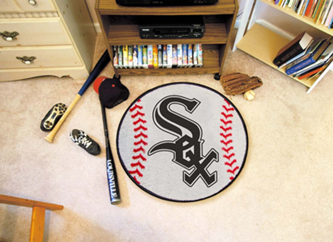 27 inch Round Chicago White Sox Baseball Mat
