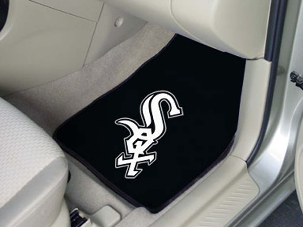 Chicago White Sox 27in x 18in Auto Floor Mat (Set of 2 Car Mats)