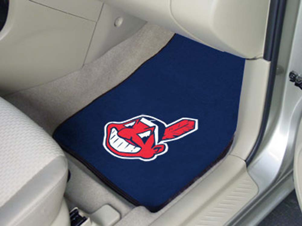 Cleveland Indians 27in x 18in Auto Floor Mat (Set of 2 Car Mats)