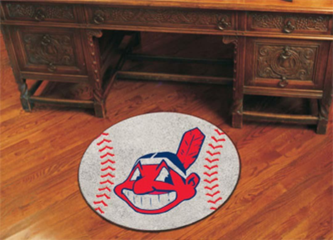 27 inch Round Cleveland Indians Baseball Mat