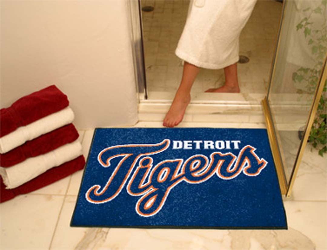 34in x 45in Detroit Tigers All Star Floor Mat