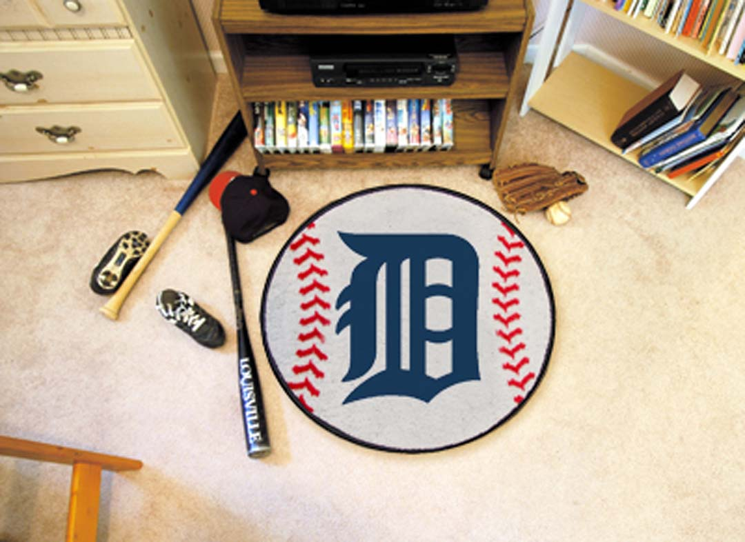 27 inch Round Detroit Tigers Baseball Mat