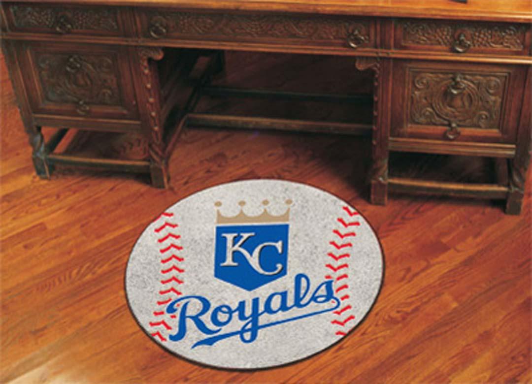 27 inch Round Kansas City Royals Baseball Mat