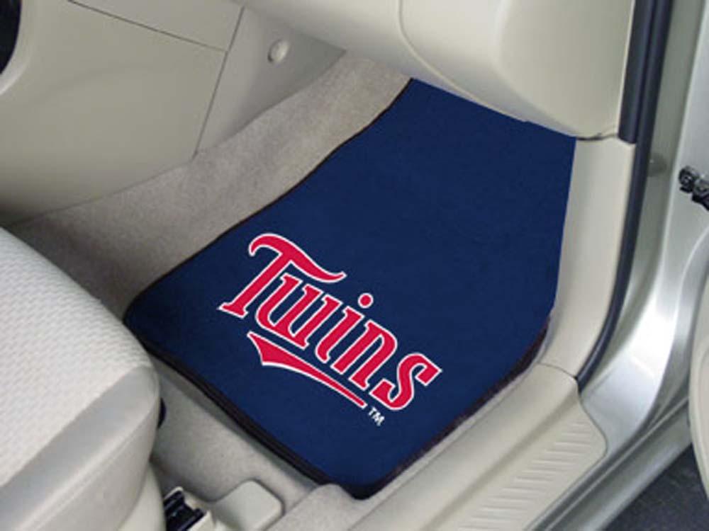 Minnesota Twins 27in x 18in Auto Floor Mat (Set of 2 Car Mats)