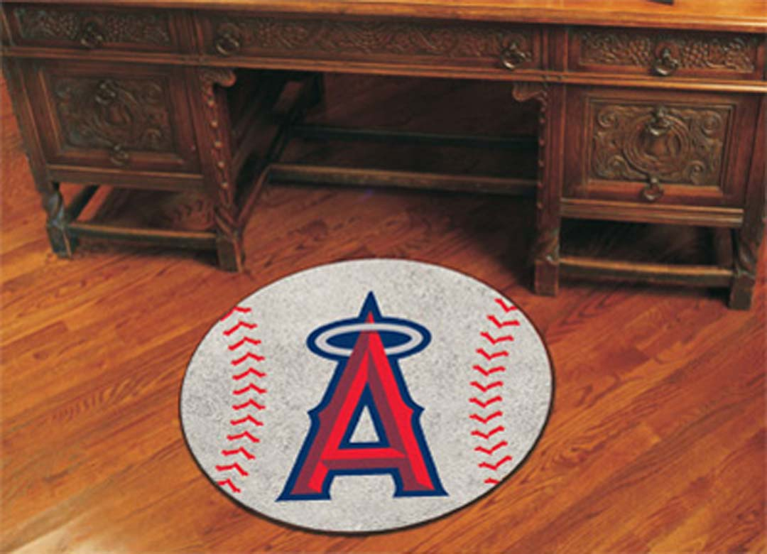 27 inch Round Los Angeles Angels of Anaheim Baseball Mat