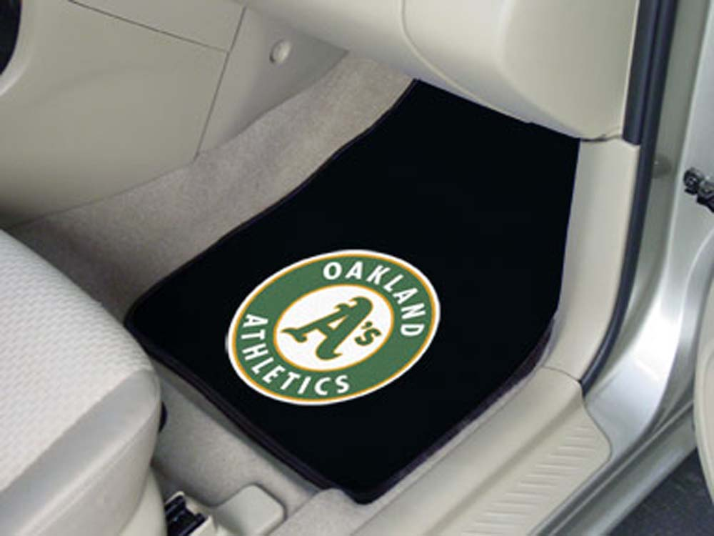 Oakland Athletics 27in x 18in Auto Floor Mat (Set of 2 Car Mats)