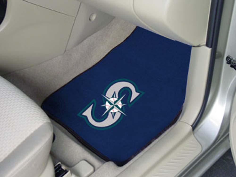 "Seattle Mariners 27"" x 18"" Auto Floor Mat (Set of 2 Car Mats)"