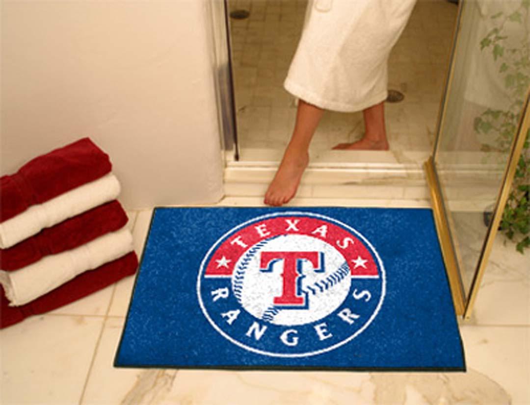 34in x 45in Texas Rangers All Star Floor Mat