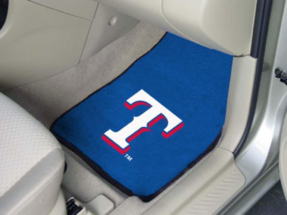 Texas Rangers 27in x 18in Auto Floor Mat (Set of 2 Car Mats)