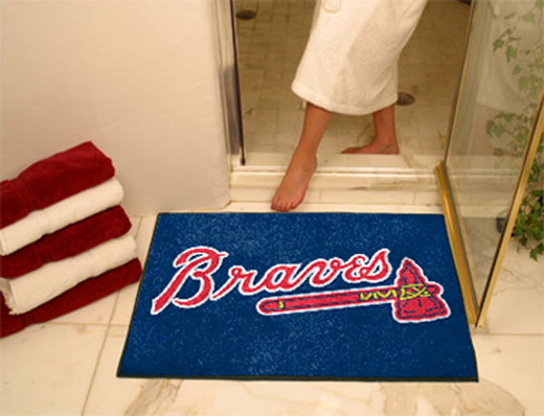 34in x 45in Atlanta Braves All Star Floor Mat