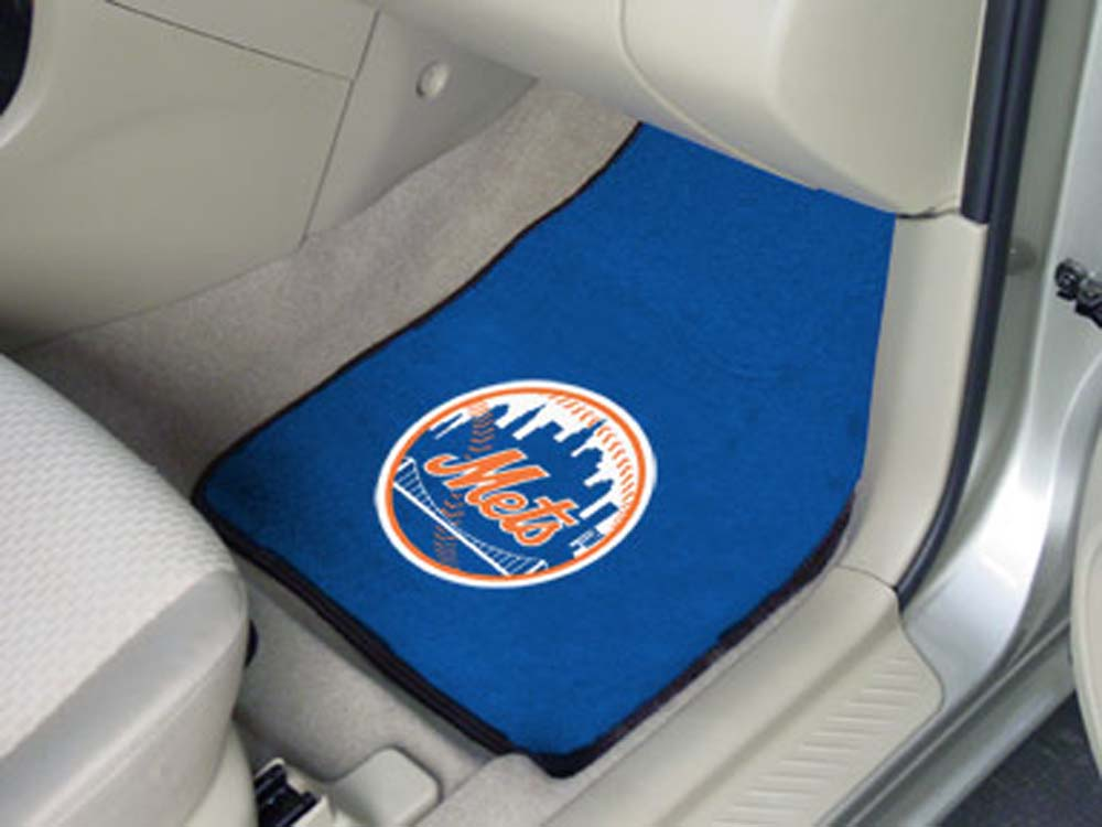"New York Mets 27"" x 18"" Auto Floor Mat (Set of 2 Car Mats)"