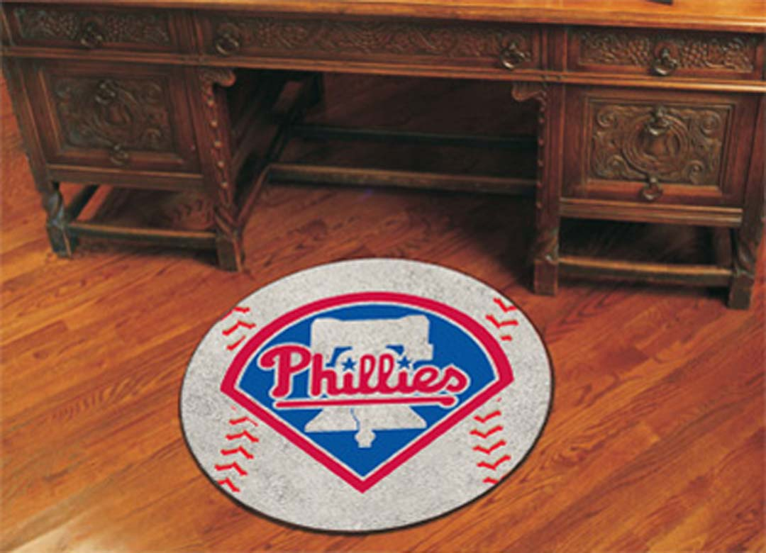 27 inch Round Philadelphia Phillies Baseball Mat